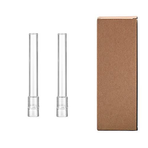 Tallo de tubo de vidrio JINNUO Solo de 120 mm de largo para Arizer (2 Pack)