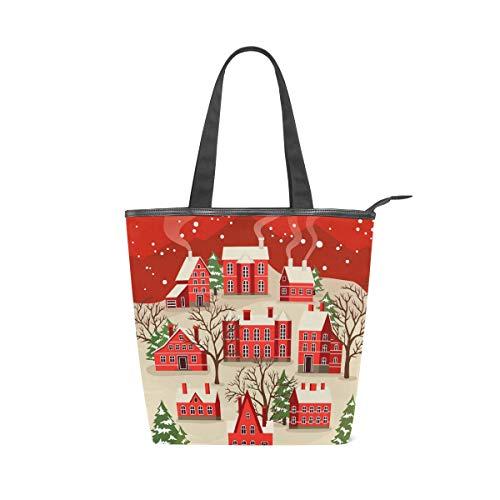 NaiiaN Bourse pour les femmes filles dames étudiant sacs à main bonne année voeux joyeux noël art sacs à bandoulière sac fourre-tout sangle poids léger vintage