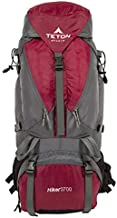 TETON Sports Hiker 3700 Ultralight Internal Frame Backpack – Not Your Basic Backpack; High-Performance Backpack for Hiking, Camping, Travel, and Outdoor Activities; Sewn-In Rain Cover; Red , 30.5-Inch x 12.5-Inch x 12.5-Inch