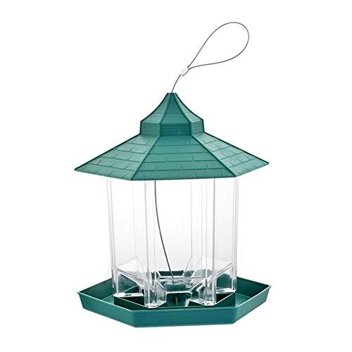 MXQIN Nuovo caldo selvaggio for uccelli esterna di alimentazione for uccelli contenitore di alimento Hanging Gazebo Bird Feeder for decorazione del giardino Can make your pet bird eat better