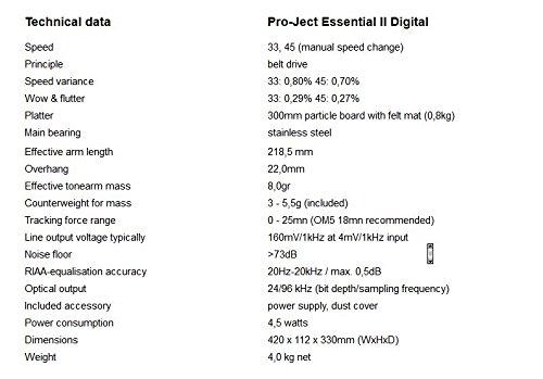 Pro-Ject Essential II Platine Vinyle Noir