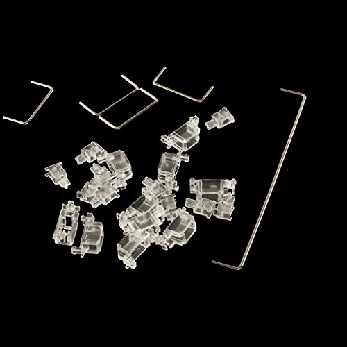 Cherry Style OEM Clear PCB-Mounted PCB Stabilizers Satellite Axis 7u 6.25u 2u for MX Switches Mechanical Keyboard Big Keycaps (625u 60 87 Set)