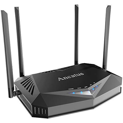 Ancatus-WiFi 6 Router802.11ax AX1800 Computer Router/Router for Wireless Internet/Dual Band/MU-MIMO/OFDMA/ 1.8Gbps/WPA3 / Ipv6 / Firewall/Gigabit Gaming WiFi Router / 5ghz/ Ethernet /2100 sq.ft
