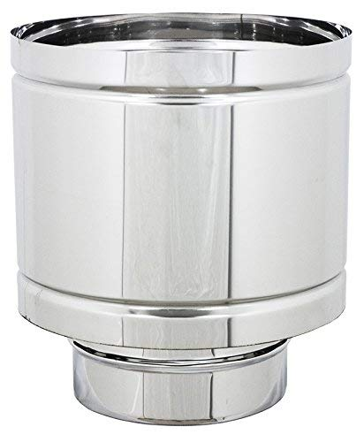 Terminale canne fumarie 4 venti in acciaio inox con base tonda (DN 200)