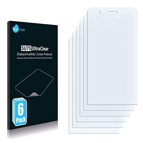 Savvies 6X Schutzfolie kompatibel mit Wiko Fizz (nur Kamera Links) Bildschirmschutz-Folie Ultra-transparent
