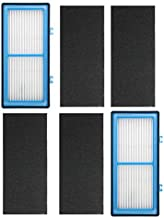 ECOMAID 2 HEPA + 4 Carbon Booster Filters for Holmes AER1 HEPA Type Total Air Filter, for Holmes Air Purifier Filter AER1 Series, Replacement HAPF30AT HAP242-NUC