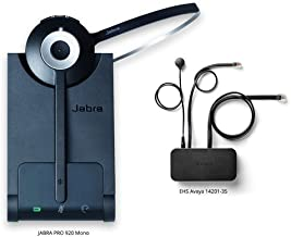 Jabra PRO 920 Mono Wireless Headset with EHS Avaya 14201-35 Cable, Bundle for Avaya Phones (1600 & 9600 Series)