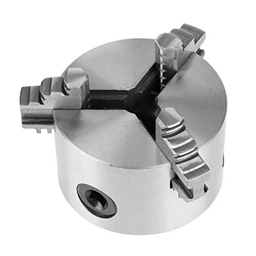 %9 OFF! wosume Lathe Chuck, 3inch K11-80 3-Jaw Self-Centering Metal Lathe Chuck with Extra Jaws Chuc...