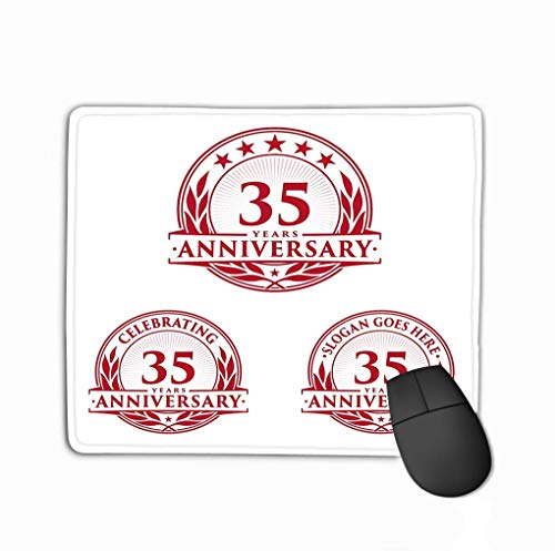 Mouse Pad Template Anniversary TH Logo Year Celebration Small Happy Rectangle Rubber...