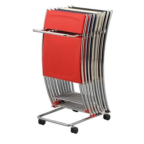 Chariot de transport - pour max. 10 chaises pliantes - Transportwagen - für max. 10 Klappstühle