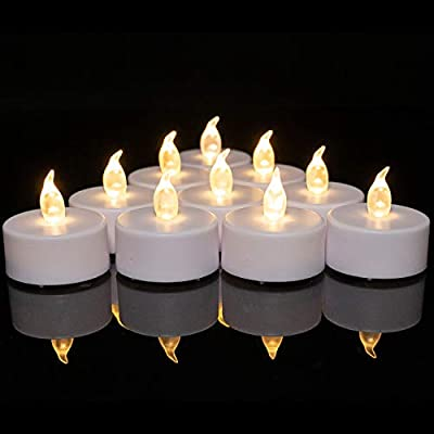 Battery Operated Tea Lights Candles: 24 Pack Realistic and Bright Flickering Holiday Gift Flameless LED Electric Candles for Seasonal & Festival Party Home Decoration (Warm White) from Shenzhen Mingxin Technology Electronics Co., Ltd.