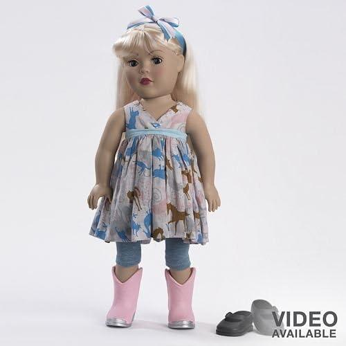 Dollie & Me Printed Top w  Leggins Blonde by Dollie & Me