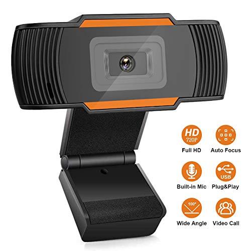 JIESD-Z Autofocus HD-webcam met microfoon, 720P Desktop Laptop Camera Afstand Conferentie Computer Webcam voor videogesprekken Online lesgamen