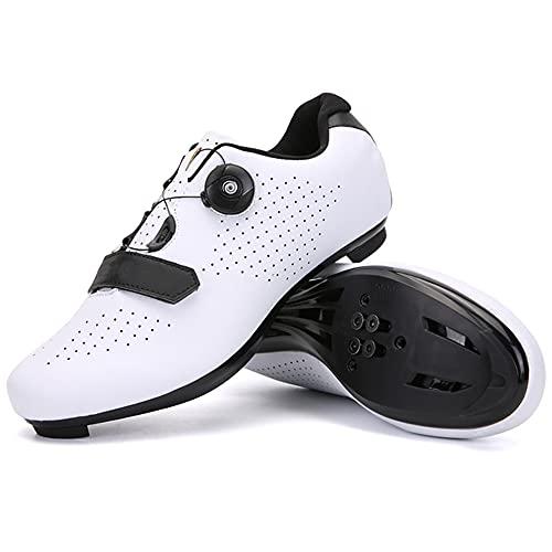 1 par de zapatos de ciclismo brillantes para bicicleta, zapatos de carreras de carretera, zapatos Peloton, adecuados para hombres y mujeres, montar en carretera, viajes, bicicletas de montaña