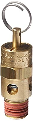 Control Devices ST25-1A250 ST Series Brass Soft Seat ASME Safety Valve, 250 psi Set Pressure, 1/4 Male NPT by Control Devices