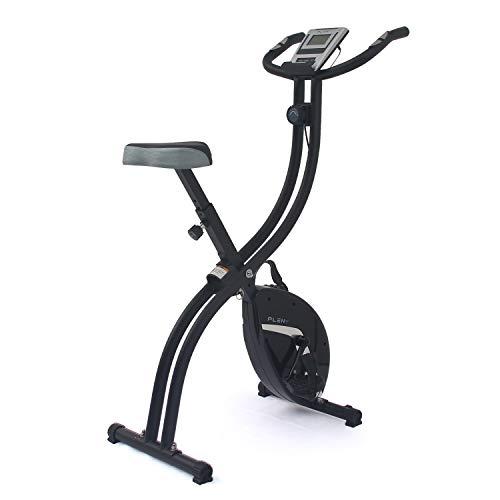ISE Vlo d'appartement Fitness Pliable cran LCD Entranement Cardio, F-Bike 16 Niveaux de Rsistance Magntique + Roue d'inertie de 15...