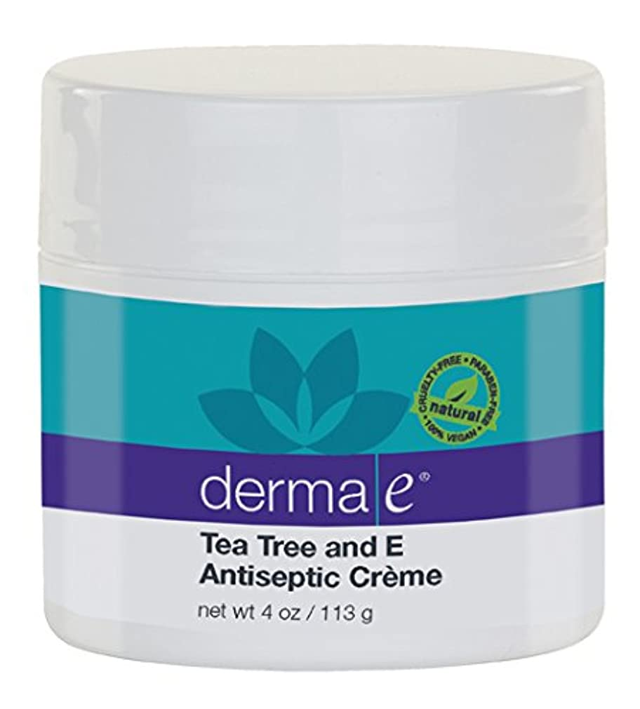 特性間違っている銀河Derma E Therapeutic Tea Tree & Vitamin E Antiseptic Cream 113g/4oz並行輸入品