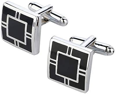 SataanReaper Presents Cufflinks -Emanel Silver Plat Boxed Discount mail order Square Limited time cheap sale