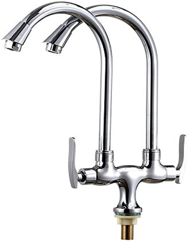 ETERNAL QUALITY Badezimmer Wasserhahn Messing Hahn Waschraum Mischer Ein Kaltes Tippen - Messing schwenkbar Double-Double-dual Wasser antiken Double-Double aus der Küche Spüle Wass