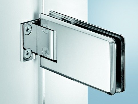 Charni/ère de meuble pour porte int/érieure Gedotec Charni/ère de porte en verre pour porte avec trou en verre Charni/ère de porte pour porte en ver Angle douverture 170/° Charni/ère nickel/ée mate Lot de 2