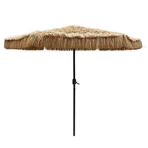 NMDD Beach Umbrella Straw-like Garden Hawaii Simulation Straw Umbrella Sunscreen UV Terrace Table Umbrella