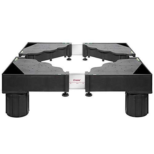 JISHUYI-Q Base ajustable para electrodomésticos – Base ajustable para lavadora 4/8/12 pies Soporte para frigorífico Soporte para secadora Base móvil – PEDESTALS