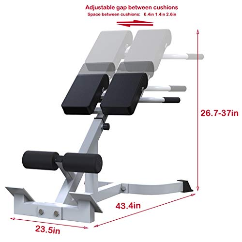 Bench Roman Chair Back Hyperextension【Ship From USA】 Adjustable AB Bench Hyperextension Exercise Strength Training Back Machines