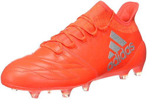 adidas X 16.1 FG Leather, Botas de fútbol para Hombre, (Solar Red/Silver Metallic/Hi-Res Red), 41 1/3 EU