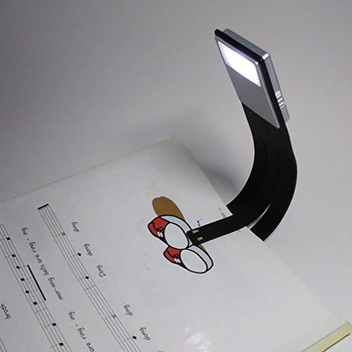 Luminárias LED de leitura recarregáveis Mobestech, USB, luz de leitura de livro, 4 níveis de brilho ajustáveis para proteção ocular, com clipe para livro, para leitura noturna na cama
