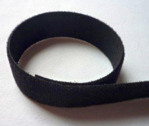 Tesotex fermeture Velcro soudés dos à dos 20 mm noir