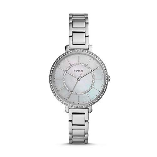 Fossil Damen Analog Quarz Uhr mit Edelstahl Armband ES4451