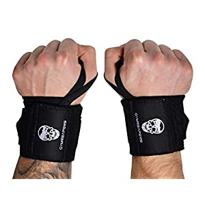 Gymreapers Weightlifting Wrist Wraps (Competition Grade) 18″ Professional Quality Wrist Support with Heavy Duty Thumb Loop – Best Wrap for Powerlifting, Strength Training, Bodybuilding