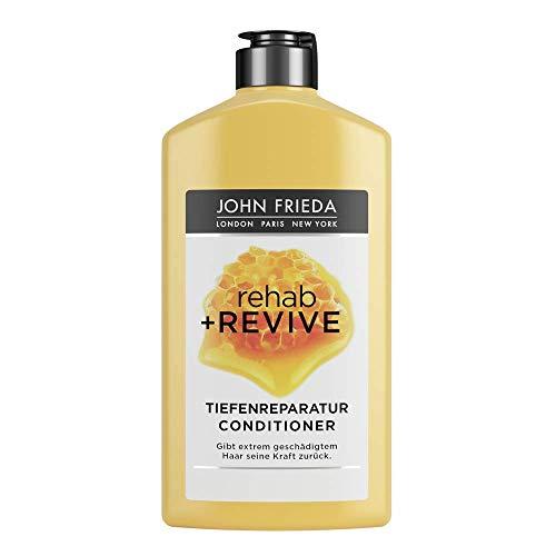 John Frieda Rehab + Revive Reparatur-Conditioner - Für extrem strapaziertes, geschädigtes Haar - Mit kostbarer Honig-Mischung, 250 ml
