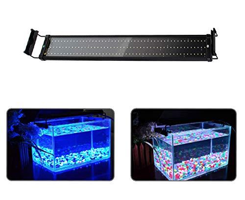 MLJ Illuminazione LED per Acquario con Supporto Regolabile Lampada (95-115 cm,25W 100A, Blu + Blu e Bianco)
