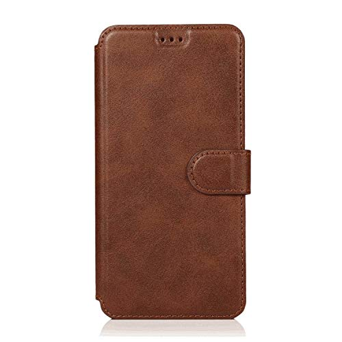 Leather Cover Compatible with Samsung Galaxy S10 5G, Coffee Wallet Case for Samsung Galaxy S10 5G