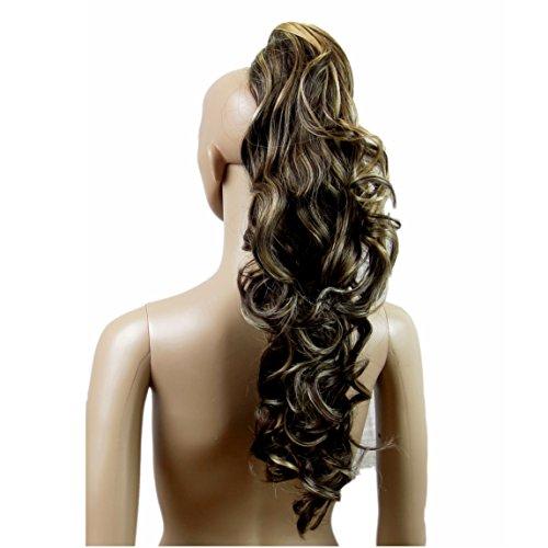 Vanessa Grey Hair Ponytail, Extensions De Cheveux Pour Queue De Cheval Mélange De Blond Vénitien Et Marron Chocolat
