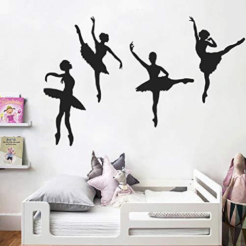 Tophappy Adesivo da Parete Ballerina Creativo Wall Stickers per Salotto Camera da letto Adesivo Murale Removibile Impermeabile Famiglia Arte Murale Home Decor
