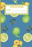 Composition Notebook: Steel Blue Lemon gift for women,men,kids,and teens: cute & elegant  college ruled lined paper to write in