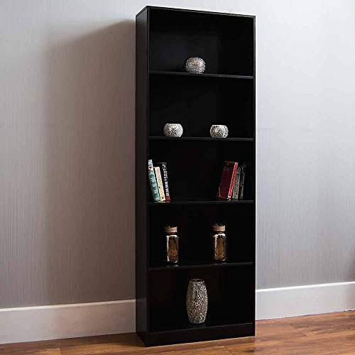 Home Discount Vida Designs Cambridge 5 Tier Extra Large Bookcase, Black...