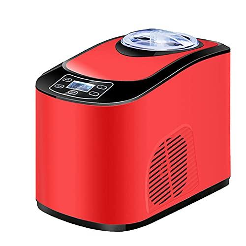 QiHaoHeji Frozen, Yogurt Maker Heladera doméstica Máquina automática para hacer helados pequeña máquina comercial para hacer helados (color rojo, tamaño: 24 x 39 x 32,6 cm)
