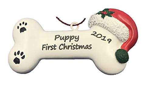 santaornaments Personalized First Christmas Dog Bone Ornament