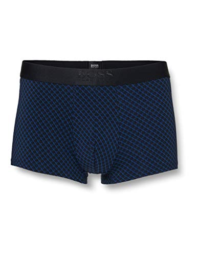 BOSS Herren Trunk Microprint Boxershorts, Dark Blue407, L
