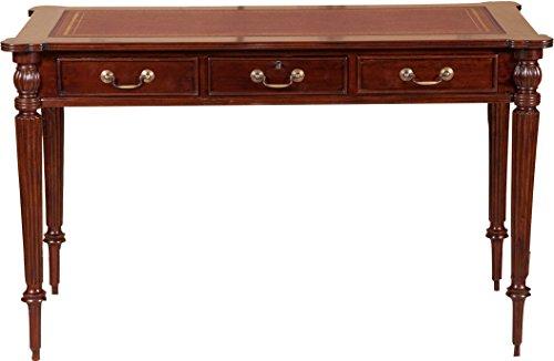 Schreibtisch, Massivholz, Mahagoni-Finish, Walnussholz