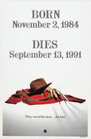 Freddy's Dead The FINAL Nightmare - Robert ENGLUND – Movie Wall Poster Print – A4 Size Plakat Größe Nightmare ON ELM Street 6