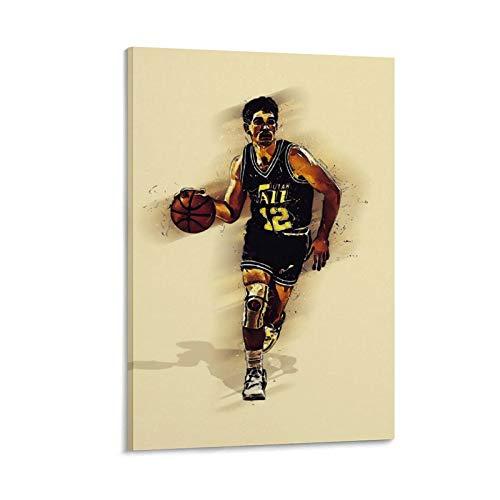 OKJB Póster de baloncesto para pared con impresión artística moderna para habitación familiar, 50 x 75 cm