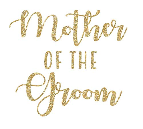 Wedding Iron On Transfers, Bride Iron on, Bridesmaid Iron on, Bride Tribe Iron on, Maid of Honor Iron on (Gold Glitter, Mother of Groom)