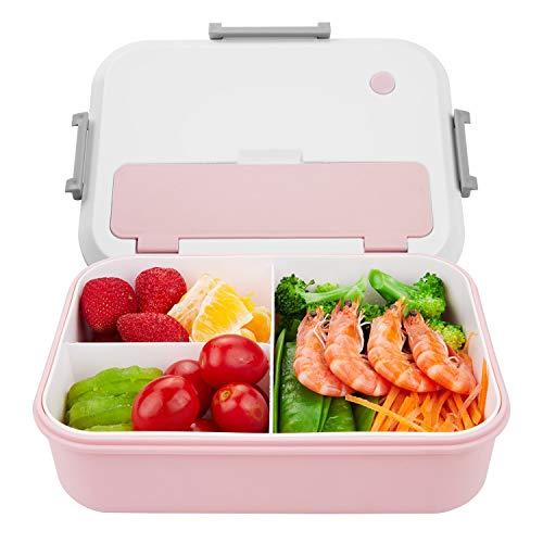 Thousanday Fiambrera Niños | Lunch Box Azul 2 Cubiertos de Regalo | Fiambrera Bento con 3...