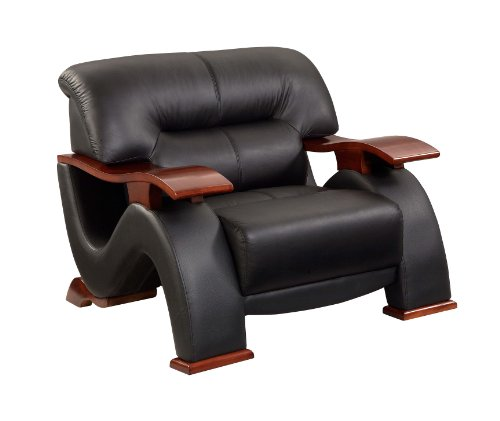 Global Furniture Parker Collection Leather Matching Chair, B...