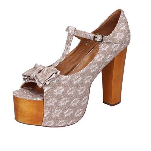 JEFFREY CAMPBELL Sandales Femme Textile Blanc 41 EU