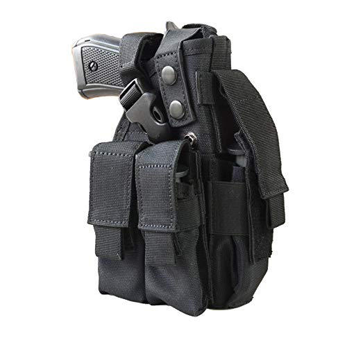 Pistol Holster with 3 Magazine Bag. Suitable 9mm 1911 Glock .Super Strong.Universal Adjustable Hand Gun Case.Left and Right Hands are Interchangeable, Including Magazine Bag.Holsters for Pistols.